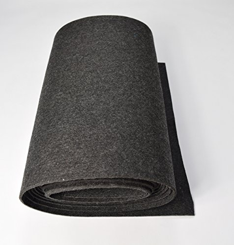 Fabrics-City ANTHRAZIT BASTELFILZ FILZ STOFF ~5MM~ FILZSTOFF STOFFE METERWARE, 4358