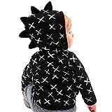 Kleinkind Baby Jungen Mädchen Reißverschluss Jacke Mantel Cute Dinosaurier Muster Oberbekleidung Kleidung By Dragon (Schwarz, 24M)