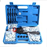 Professional Hand Blind Rivet Nut Tool Riveter Gun Kit with 150 Rivets M5 M6 M8 M10 M12 (30 Pieces Each)
