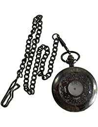 Handmade Vintage Beautiful Eagle Designer Battery Powered Pocket Watch With Long Chain