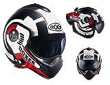 Roof Dach Helm Boxer V8, Target matt rot, Größe S
