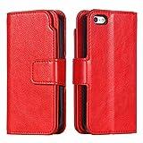 SUMIXON Coque iPhone Se / 5 5S, Premium en Cuir Étui Portefeuille avec Carte de...