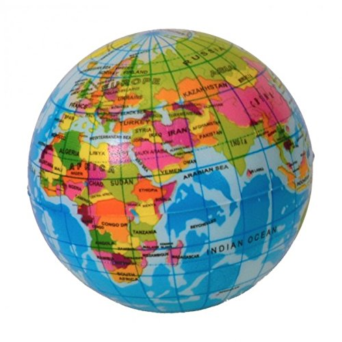 trendaffe Globus Softspringball aus Schaumstoff - Erde Weltkugel (Schaumstoff-bälle 36)
