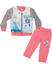 alles-meine.de GmbH 2 TLG. Set _ Jogginganzug / Hausanzug -  Disney Frozen - die Eiskönigin  - Größe 2 bis 6 Jahre - Gr. 92 bis 128 - mit Jacke / Langer Pyjama / langärmlig - J..