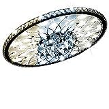 25W LED-Deckenleuchte Europäische Runde Kristall Deckenlampe, Dimmbar mit Fernbedienung Deckenbeleuchtung, 230V, 1800 Lumen, 3000K-6000K, Ø 43cm