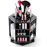 MyBeautyworld24 Make Up Kosmetik Box Kosmetikständer 360 Grad Drehbar Organizer Sortierkasten für Aufbewahrung von Kosmetik Make-Up- Ständer in der Farbe schwarz