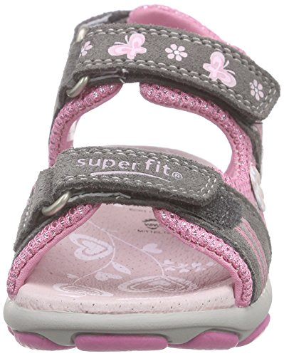 Superfit Nelly 1, Sandales fille Gris (stone Kombi 06)