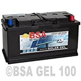 BSA Solar GEL Batterie 100Ah 12V Gelakku Solarbatterie Versorgungsbatterie - 6 Grössen (100Ah)