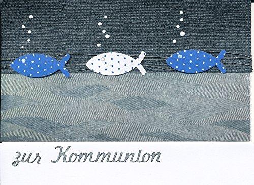 Einladungskarten zur Kommunion oder Konfirmation zum selbst Gestalten für 8 Karten inc. Zubehör + Umschlag Format C6