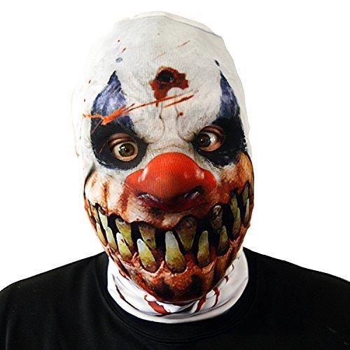 Clown Gesichtsmaske Halloween Kostüm Erwachsene SCHRECKEN Horror (Halloween-kostüme Clown)