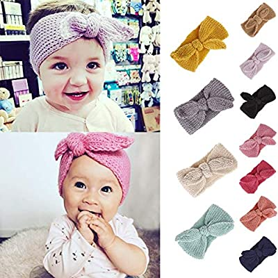 Diadia Fashion Hair Decorations Children's Headband Baby Girl Knitted Head Band Woven Warm Hairband