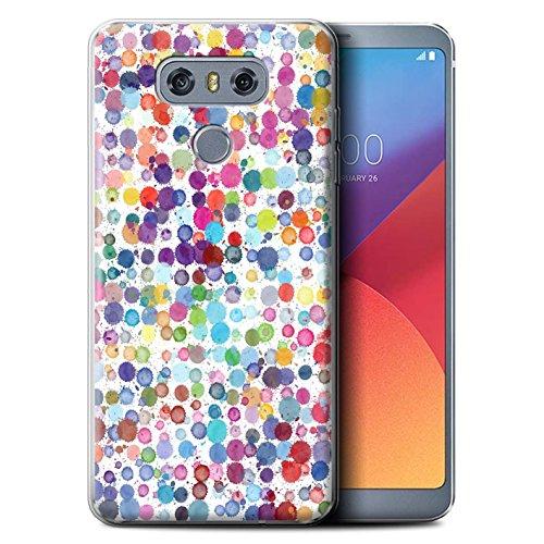 Stuff4® Gel TPU Hülle/Case für LG G6/H870/LS993/VS998 / Bunte Punkte Muster/Wintermode Kollektion Dots Case Cover