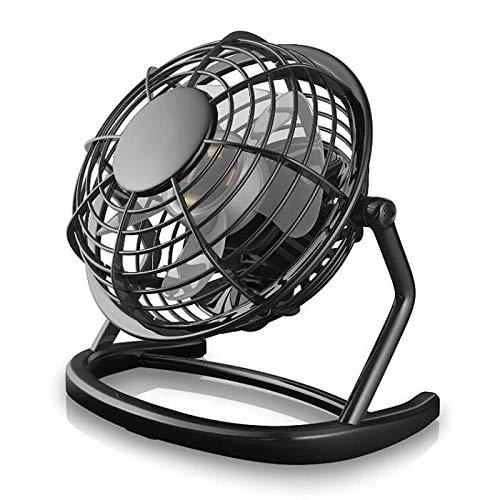 Mini Ventilateur, TEENO Ventilateurs USB De Table Silencieux Ventilateur Portable 4' Mini Fan de Bureau Plastiques Fan Compatible PC, Ordinateur Portable - Noir