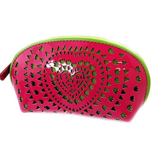 Geldbörse mit reißverschluss 'Agatha Ruiz De La Prada'grün rosa (lack). -
