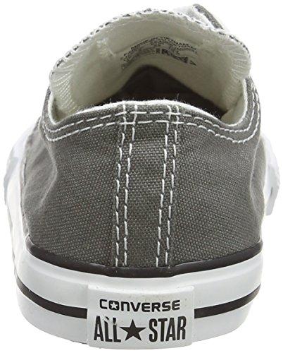 Converse Chuck Taylor All Star Seasonal Ox, Baskets mode mixte bébé Gris (Anthracite)