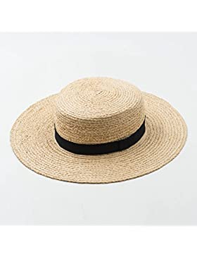 SituMi Señoras Verano sombrero para el sol Sombrero de Paja plegable disquetes grandes ala ancha la playa Topping-Out...