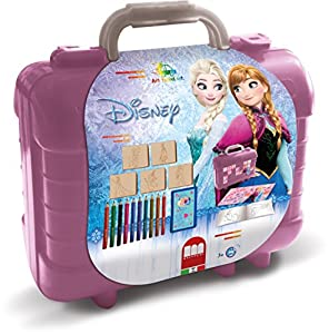 Disney Frozen Schrijfset koffer Frozen: 81-delig Multicolor 10pieza(s) laápiz de Color - Lápiz de Color (10 Pieza(s), Fijo, Multicolor, Chica, Púrpura)