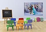 AG Design FTDm 0721  Disney Frozen Die Eiskönigin, Papier Fototapete Kinderzimmer- 160x115 cm - 1 Teil, Papier, multicolor, 0,1 x 160 x 115 cm