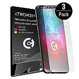 3x cTRON21 Schutzfolie Samsung Galaxy S9 Plus [Vollständige Abdeckung] Display Folie TPU Displayschutzfolie [Keine Bläschen] Hüllen freundlich
