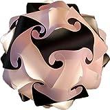 XL 45cm Schwarz-weiss Puzzle Lampe Bastellampe designerlampe