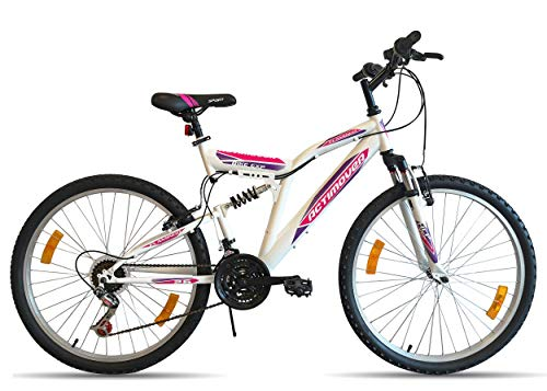VTT Bicicleta de montaña de 26 Pulgadas con suspensión Completa para Mujer Actimover/Flamingo - Marco...
