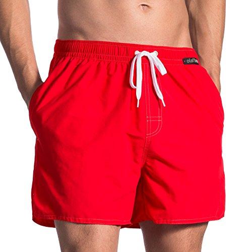 Olaf Benz Herren BLU1661 Shorts Badeshorts, Rot (Mars 3018), Large