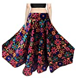 Mira Creation Women's Banglori Satin Skirt(MR11_Multicolour_Free Size)