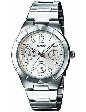 Casio Unisex Analog Quarz mit Edelstahl Armbanduhr LTP2069D7A2VEF