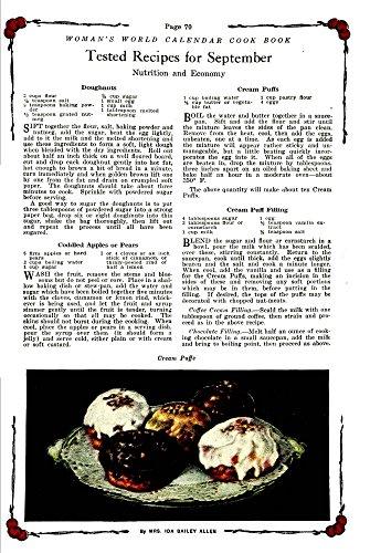 The Poster Corp Woman's World Calendar Cook Book 1922 Cream Puffs Kunstdruck (60,96 x 91,44 cm) Womens Cream Puff