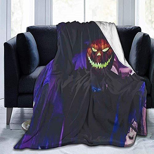 Amanda Walter Halloween in Bali Gruselige Kürbis Micro Fleecedecke Bequeme Flanell Fleecedecke Warme Fleecedecken Bettdecke Warme Sofadecke 60 * 80in
