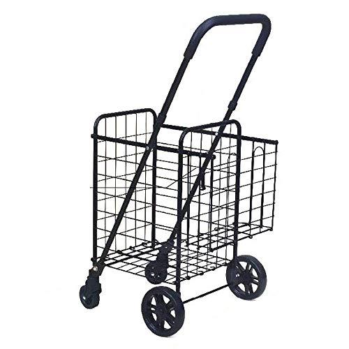 4 Rad-Einkaufswagen, Faltender Hilfsmittel-Mobilitäts-Rollator-Leichter Großer Starker Lebensmittelgeschäft-Gepäck-Wagen Der Kapazitäts-58L für Supermarkt-Mamma-Reise-Strand-Feiertags-Kampierenden Ca -