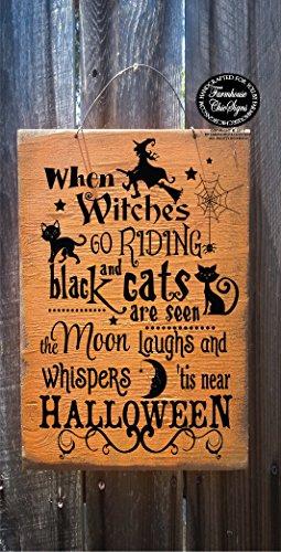 CELYCASY Halloweenschild mit Aufschrift
