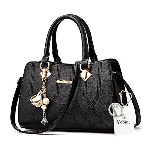 Borse Yoome Medium Crossbody per le donne borse Handle Handbag Borse eleganti - D.Pink Nero