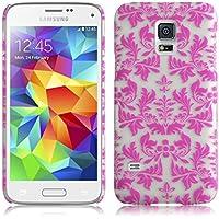 JAMMYLIZARD | Damast- Motiv Back Cover Hülle für Samsung Galaxy S5 Mini, ROSA