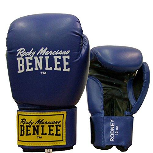 BENLEE Boxhandschuhe RODNEY PU Training Gloves - Blue/Black Größe 12