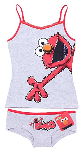Sesamstraße Elmo Damen Top & Shorts Shorty Schlafanzug Nachtwäsche kurz Pyjama - 36-38 / UK 10-12 / EU 38-40 Elmo Sesame Street Shorts