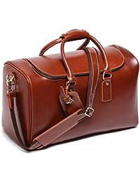 Leathario bolso de viaje para hombre de piel sintética de cuero genial equipaje de mano bolso de Mano de Piel maletas para negocio o trabajo