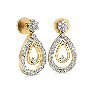 PC Jeweller The Aviya 18KT Yellow Gold & Diamond Earring