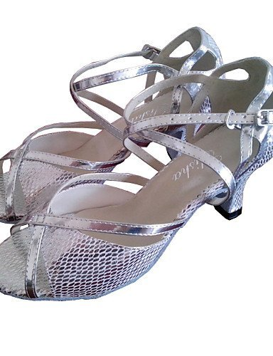 Dimensions shangyi gefertigter Paragraphe–Cuir–Latin/Chaussures de danse salsa/Standard–Femme Or - or