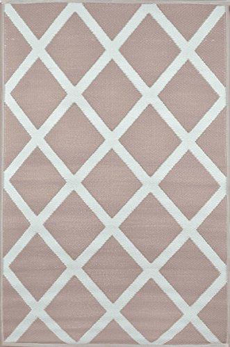 Grün Deko-wendbar-leicht Kunststoff Teppich Diamant Warm Taupe \ creme–5x 8ft (150x 240cm), warm taupe/cremefarben