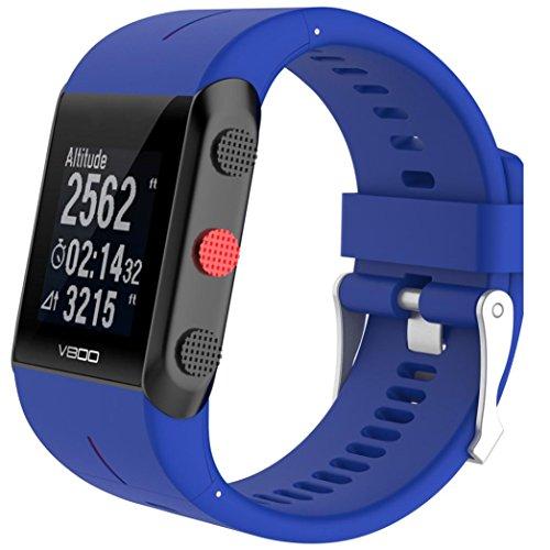 Xshuai Personalisierte Mode Stil160-220MM Leichtgewicht Ersatz Silikon Gummi Uhrenarmband Band Handschlaufe für POLAR V800 Uhr (Armee grün, schwarz, blau, grau, lila, rot, Himmel blau, weiß) (blau) - 12mm Uhrenarmband Gummi