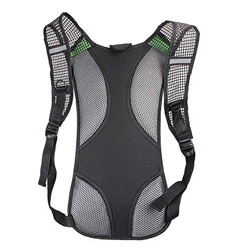 Hydration Rucksack, xhorizon (TM) XH8 Unisex Radfahren Fahrradrucksack Camelbak Wasser Rucksack Backpack Bike AußenSportBlasen Tasche Wandern Klettern Beutel #E-Schwarz+2L Wasserblase