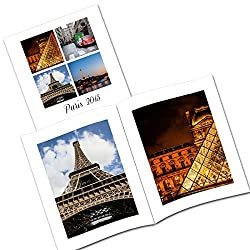 Clixicle Customized Baby, Travel Flip Photo Book with your own images, 1 photo per page, 20 pages, 8in x 10in