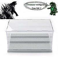 MIMIEYES Estuche de Muestra Caja de Presentación para LEGO Minifigures Claro Escaparate A Prueba de Polvo 3 Pasos (Gris)