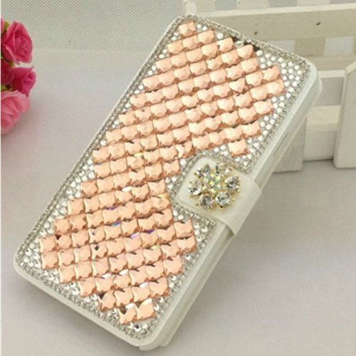es Luxuxkristalldiamant Bling Entwurf PU-Leder Flip Tasche Für Samsung Galaxy S4 9500 9505 M919,SCH-R970X,Samsung Galaxy S4 C Spire,Samsung Galaxy S4 AT&T,Samsung Galaxy S4 Cricket,SGH-i337,SCH-R970C,Samsung Galaxy S4 LTE+,GT-i9506; I9506,SHV-E330S; SHV-E330K; SHV-E330L,Samsung Galaxy S4 LTE-A,Samsung Galaxy S4 Sprint,SPH-L720,SGH-M919,T-Mobile,Samsung Galaxy S4 U.S. Cellular,(not fit S4 active version) (Samsung Att)