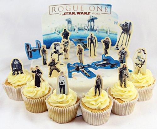 Cakeshop VORGESCHNITTENE UND ESSBARE Star Wars Rogue One Szene Kuchen topper (Tortenaufleger)