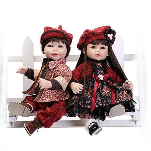 Halloween Hüte Benutzerdefinierte (Nicery Schönes Spielzeug Puppe Mit Hohem Vinyl 20inch 50cm Naturgetreue Spielzeug Bunten Hut Blumen Kleid Jungen Und Mädchen Reborn Doll)