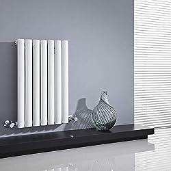 Hudson Reed - Radiateur Chauffage Central Horizontal Design - Acier Blanc - 64 x 42cm