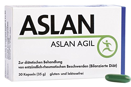 ASLAN AGIL, 30 Kapseln - Omega-3-Fettsäuren aus Fischöl, DHA und EPA, Vitamin C, Knorpelfunktion, Kollagenbildung, Blutgefäße, Herzfunktion (ab einer täglichen Dosis von 250 mg DHA & EPA), Nahrungsergänzungsmittel