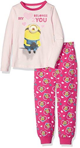 NAME IT Mädchen Zweiteiliger Schlafanzug Nitminions Kim Nightset G Nmt, Mehrfarbig (Pearl), 122